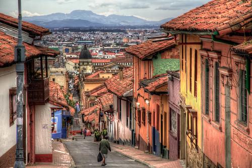 street travel colombia bogota cityscape lacandelaria