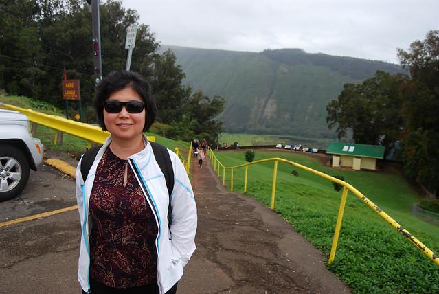 Chunlin at Waipi'o Lookout