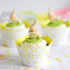 Gluten free Cadbury creme egg cupcakes