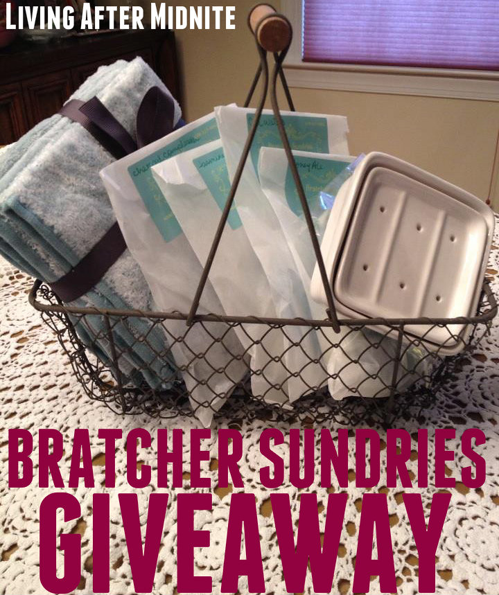 Giveaway: Bratcher Sundries