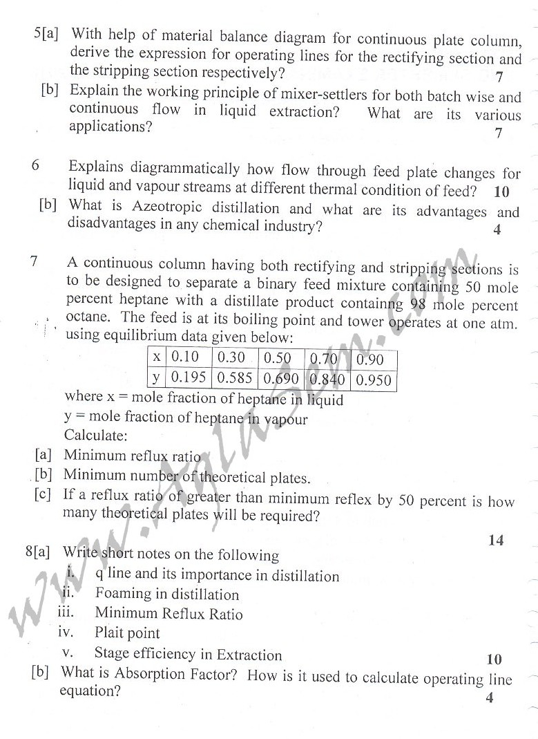 DTU Question Papers 2010 – 6 Semester - End Sem - PT-313