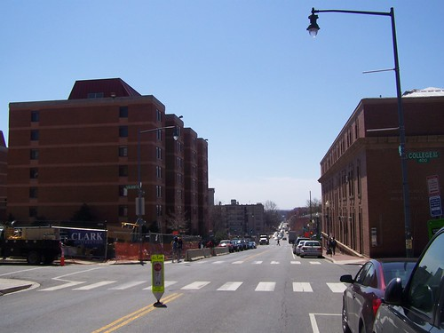 4th Street NW at the eastern edge of Howard University