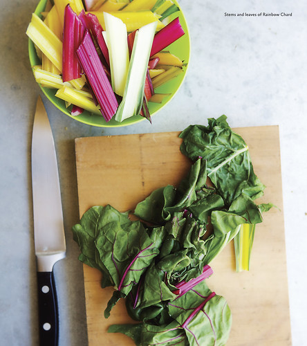 Sautéed Rainbow Chard with the Stems