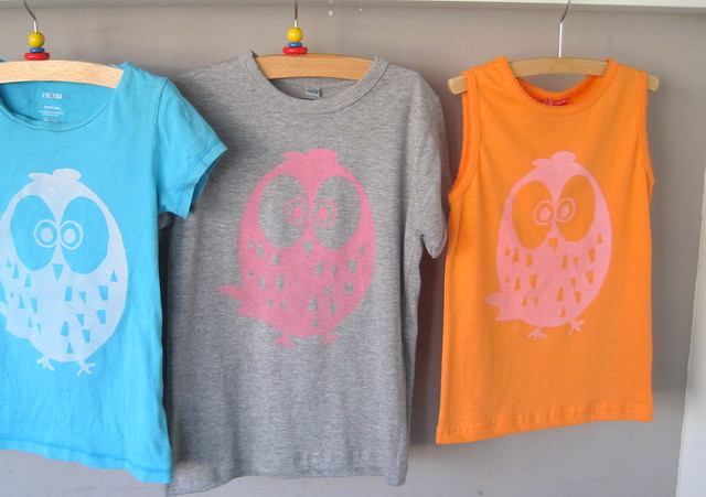 screen printed owl shirts