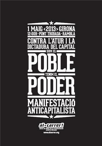 cartell 1 maig 2013 Girona al carrer