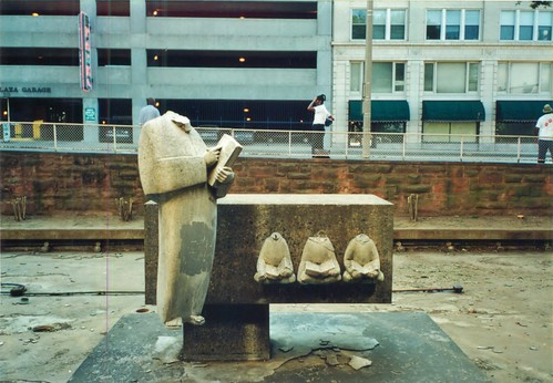 Cossitt Library Fountain- 2001 by joespake