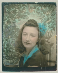 Photobooth girl tinted