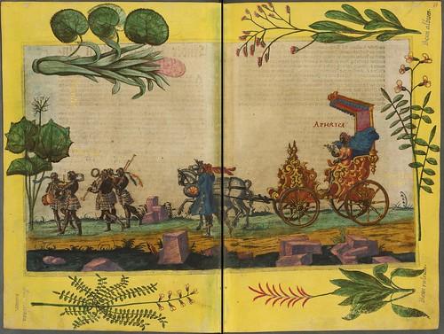 023-Escena de una caravana-Descripción del bautismo de la dama Isabel de Hesse-1598-Biblioteca Estatal de Baviera