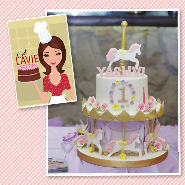 Purple Carousel Themed Cake by Lavina Barbie of C'est LAVIE Cakes & Pastries