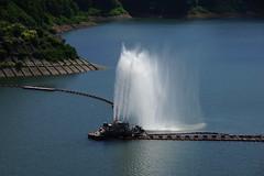 月山湖大噴水