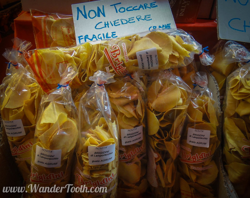 Dry Pasta at Milan Christmas Market