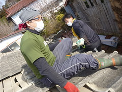 南相馬市小高区でお手伝い(援人, 2013年2月9日・10日) Volunteer work at Minamisoma city, Fukushima pref. Affrected by the Tsunami of Japan Earthquake and Fukushima Daiichi nuclear plant accident.