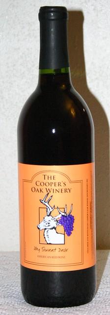 Missouri Wine - Cooper's Oak Winery, My Sweet Dear American Red Wine