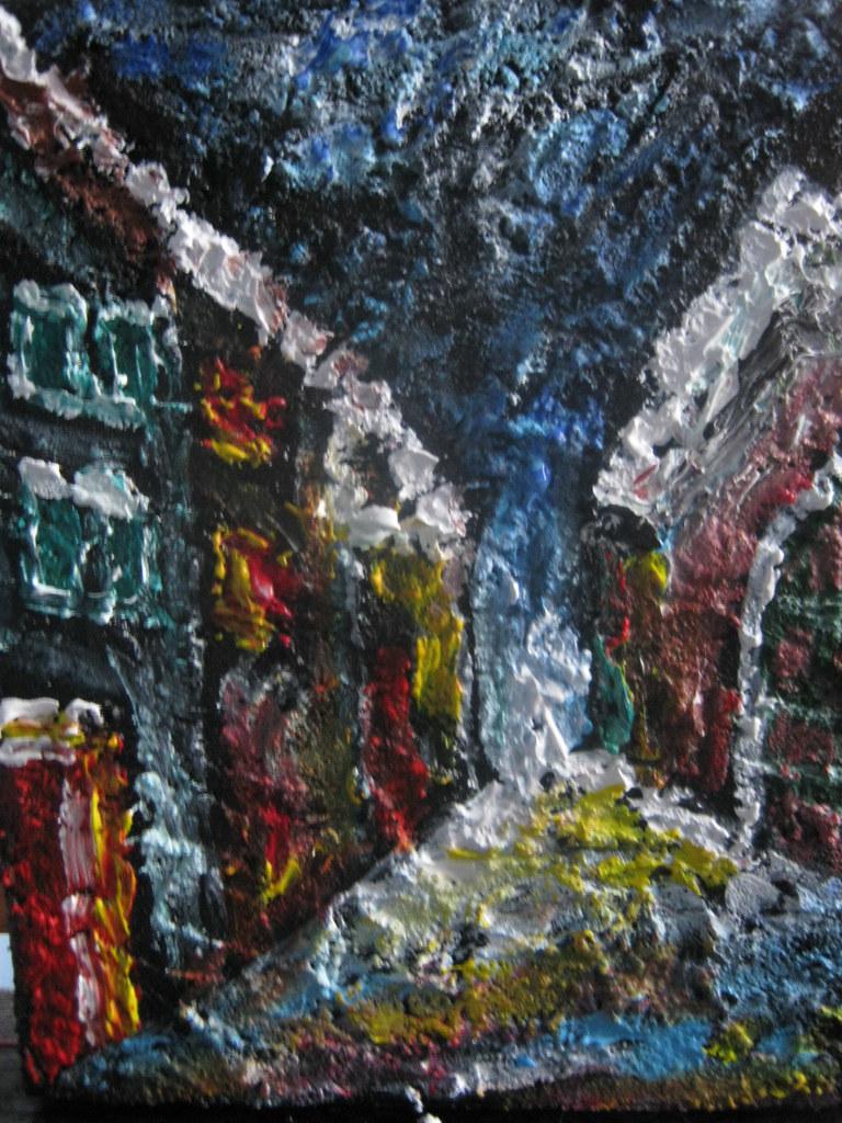 acryl + sand painting 50x30