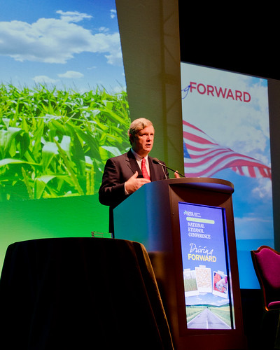 Secretary Vilsack delivers an address last week in Las Vegas to the National Ethanol Conference.