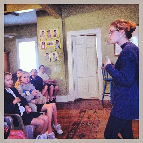 Betsie shares with a group of Girl Scouts about following their God-given dreams. 2-12-13 #wewillgo #betsie #volunteers #girlscouts #missionaries #missionarykids