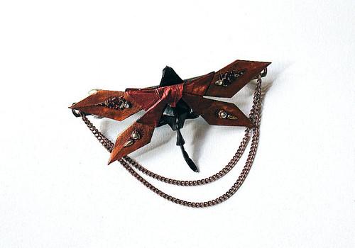 Origami Steampunk Dragonfly Barrette