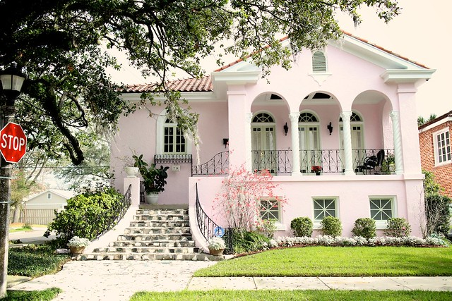pink house, new orleans