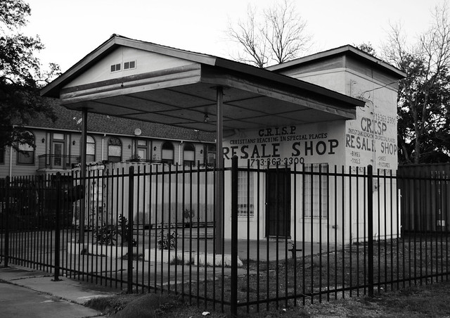Former Service Station, Leeland at Ennis, Houston, Texas 1302161823BW