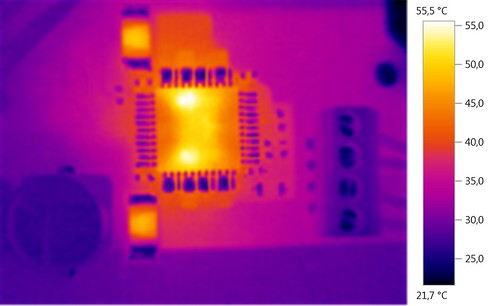 IR heat analysis of an preproduciton smaple of the TOS-100 shield