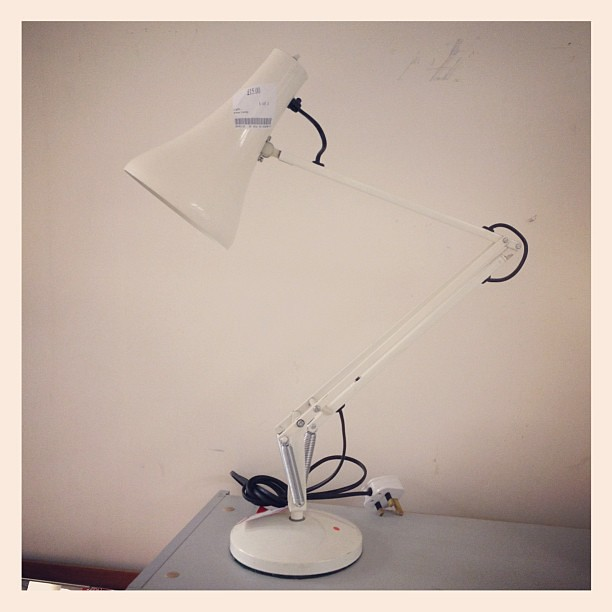 Anglepoise lamp - £15 in a charity shop in Lewisham.