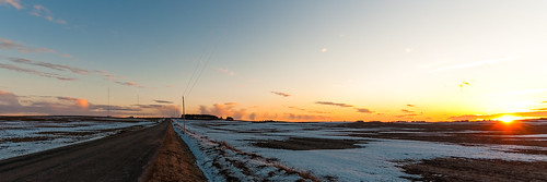 winter sunset snow clouds scenic ©jrj