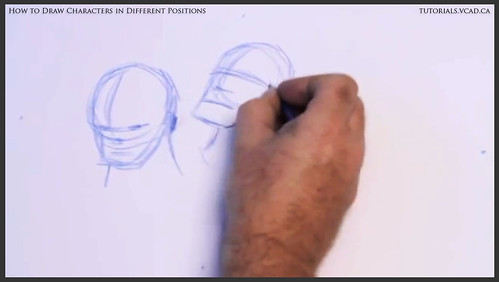 learn how to draw characters in different positions 004