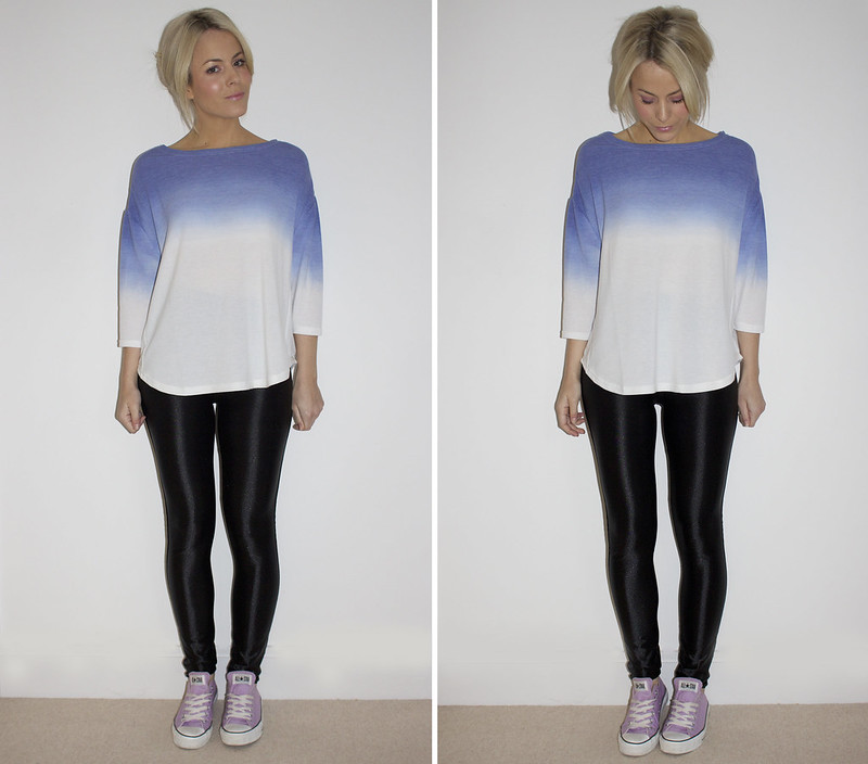 outfit dip dye jumper