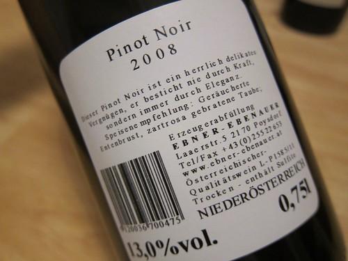 Ebner Ebenauer Pinot Noir 2008