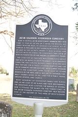 Photo of Jacob Shannon Evergreen Cemetery, Dobbin, TX black plaque