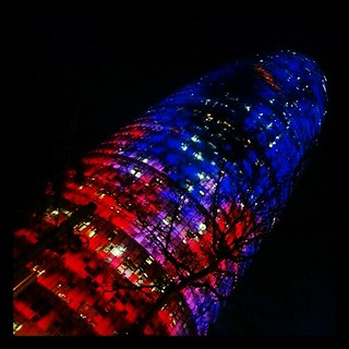 Image of Torre Agbar near GTD. square squareformat hefe iphoneography instagramapp uploaded:by=instagram foursquare:venue=4adcda51f964a520bb4121e3