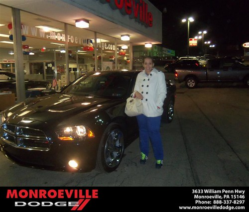 Congratulations to Tamara Hutcherson on the 2013 Dodge Charger by Monroeville Dodge