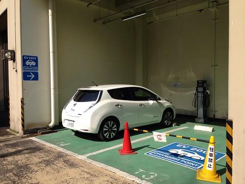山下公園駐車場 EV充電設備