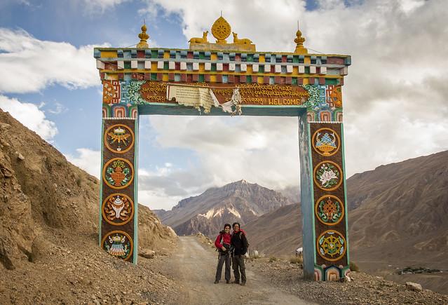Entrada al Key Gompa, Himachal Pradesh