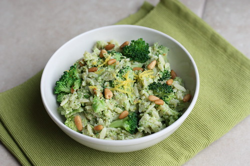 a dash of zest: Orzo & Broccoli Pesto Salad