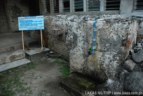 Agua de San Nicolas comes out from the faucet at Banton Church at Banton Island, Romblon