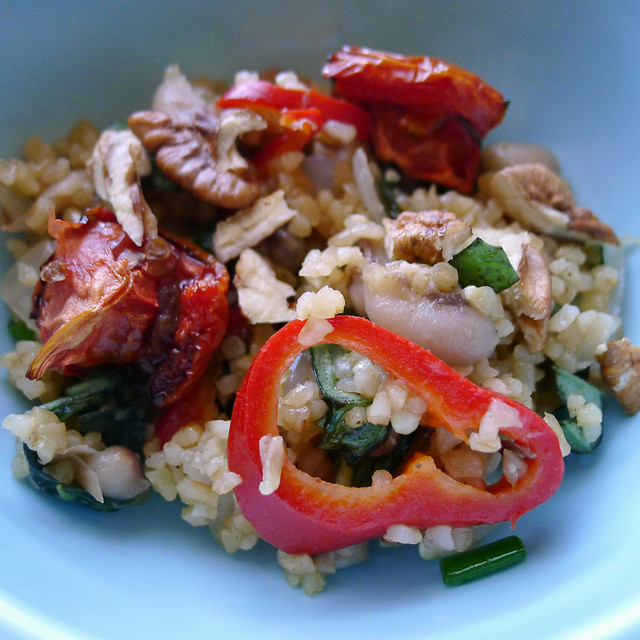 Bulgur and Black-Eyed Pea Salad with Oven-Dried Tomatoes, Onions, and ...