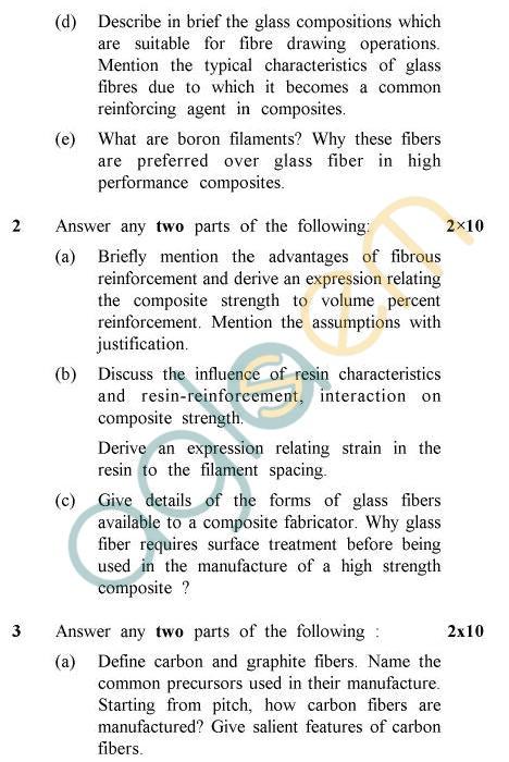 UPTU B.Tech Question Papers -PL-803 - Polymer Composites