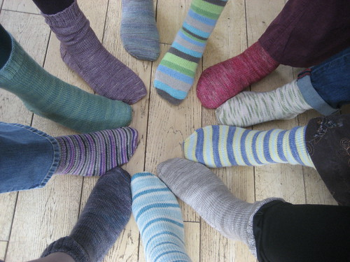 All of us in Kristina's socks