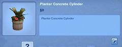 Planter Concrete Cylinder