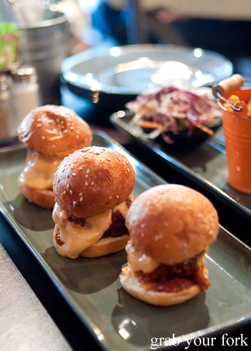 meatball sliders at the hub house diner dulwich hill