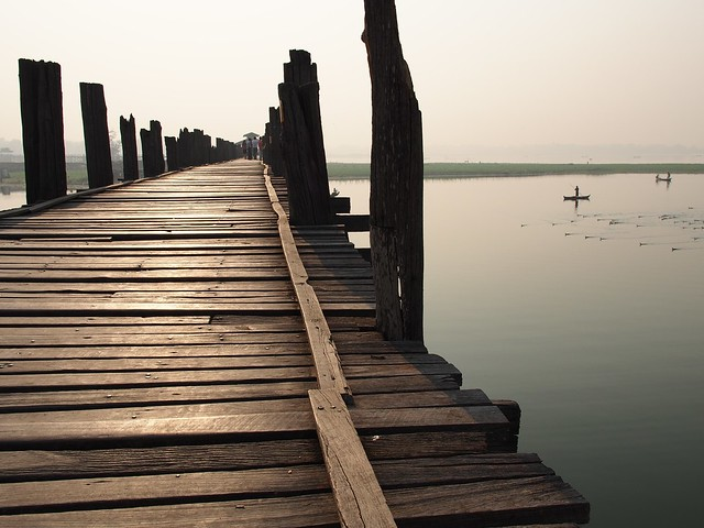 Puente de U Bein. Lago Taungthaman. Amarapura. Birmania