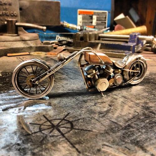 Bike #188, panhead chopper by Brown Dog Welding