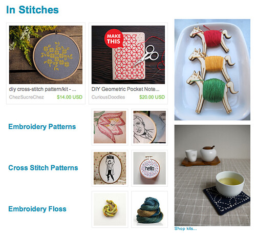 Etsy Finds: In Stitches - my Flossy the Pony Embroidery Floss Bobbins featured!