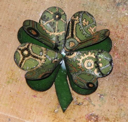Steampunk Shamrock Pin 008