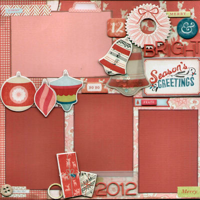"""Sleigh Ride"" Scrapbook Pages"