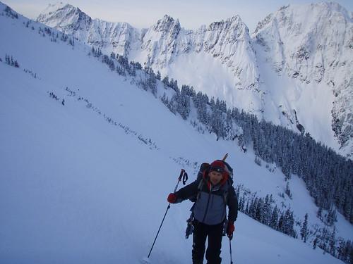 Forbidden ski traverse Skier Mt. photo Andy Traslin