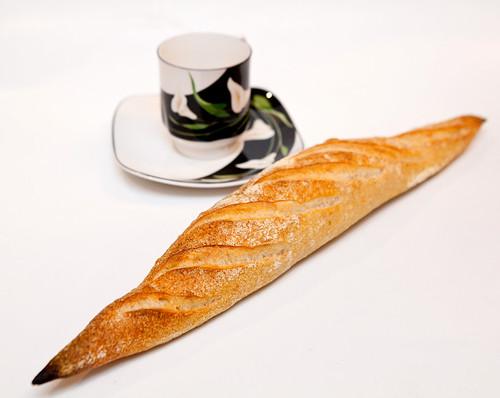 Freshly baked baguette