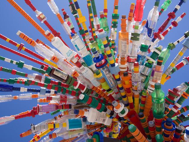 SXSW Bottle Sculpture