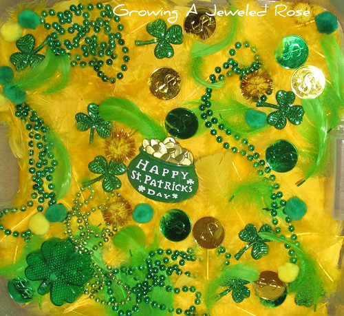 St. Patrick's Themed Sensory Bin (Photo from Growing a Jeweled Rose)
